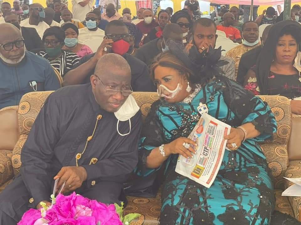 Jonathan and his wife at the funeral service