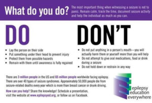Epilepsy do's and dont's