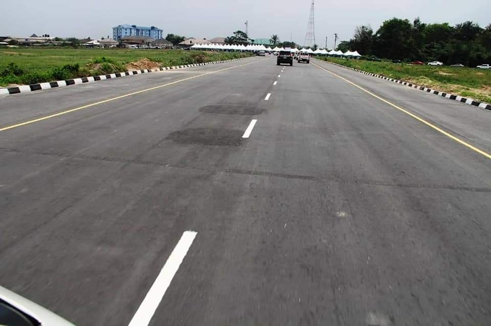 One of the roads commissioned by Gov. Diri