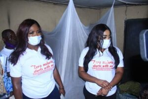 Dr. Betta Edu (right) during the launch of the campaign in Calabar South