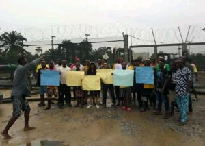 The protesting youths