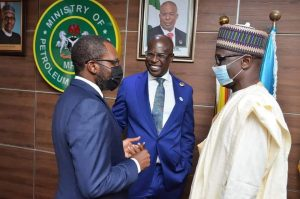 Sylva (middle), Lima (left) and NNPC GMD