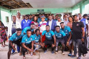 Mrs Diri, Igali and the management and players