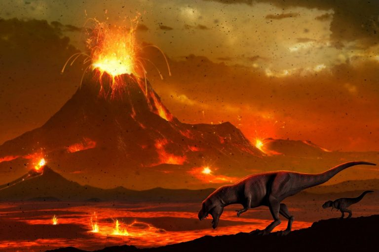 According to a recent study, the development of dinosaurs corresponded with environmental shifts caused by massive volcanic eruptions about 230 million years ago.